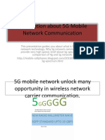 5G Mobile Network Wireless Communication Detail Information