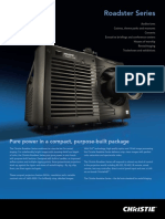 Christie projector specification