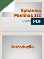 Epistolas Paulinas III Aulas 3 e 4