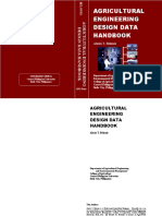 Agricultural Engineering Design Data Handbook