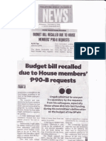 Philippine Daily Inquirer, Sept 4, 2019, Budget bill recalled due to House members P90B requests.pdf