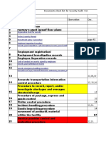 Check List for Security Audit 01