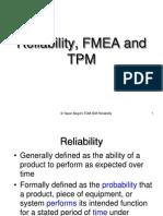 TQM IEM Lecture Reliability FMEA TPM