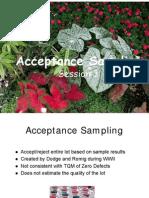 3 Acceptance Sampling