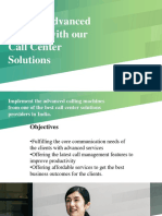 Get the Advanced Services with our Call Center Solutions