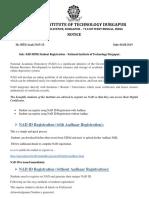 NAD Student Registration September 2019