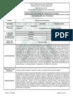 PROGRAMA DE FORMACION TITULADA TECNOLOGO EN SALUD OCUPACIONAL