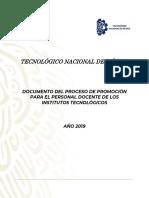 Documento Del Proceso de Promoción Para El Personal Docente de Los Its 2019