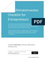 The Ultimate Investor Checklist for Entreprenuers