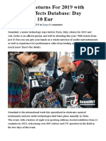 Job_130 Soundmit Returns for 2019 With Arduino, Effects Database, From
