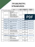 1Q 2019 2020 NSTP Schedule of Activities
