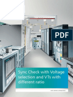 Sync Check With Voltage Selection and VTs With Different Ratio En