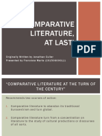 Chapter 4 - Comparative Literature at Last