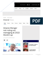Arsene Wenger not ruling out managing at 2022 World Cup | Football News | Sky Sp