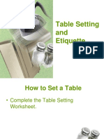 Table Setting and Etiquette PowerPoint Presentation