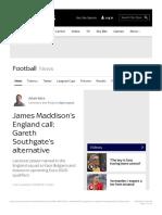 James Maddison's England call_ Gareth Southgate's alternative   Football News   .pdf