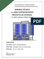 Memoria Técnica de Prevención y Control de Incendios Sra. Mercy Garrido Chacha