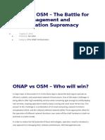 ONAP vs OSM - Who Will Win