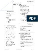 o Level a Maths 2009 Paper 2