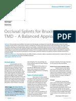 Occlusal Splints for Bruxing
