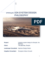 Irrigation System Design for Sharjah, The Bee'Haa