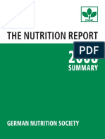 DGE Nutrition Report Summary 2008