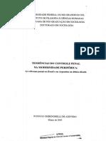 TENDNCIAS DO CONTROLE PENAL  NA MODERNIDADE PERIFRICA
