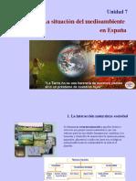 La situación del medio ambiente en España