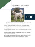 Cerita Dongeng Fabel Anak Anjing Dan Tiram