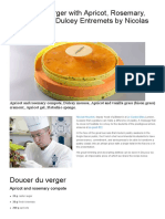 Recette Doucer Du Verger With Apricot, Rosemary, Pistachio by Nicolas Houchet - Pastry in So Good Magazine