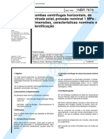 NBR 07878 PB 856 - Bombas Centrifugas Horizontais de Entrada Axial Pressao Nominal 1 MPa - Dimens