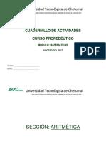 Cuadernillo de Ejercicios_propedeutico Matematicas_ut 2017_ok