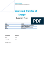 Energy Past Papers