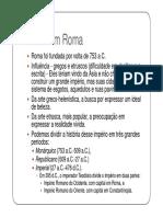 3ª Etapa 1ª Série RI Arte Romana Escultura Pintura e Mosaico