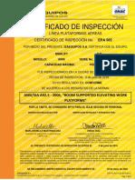 Manlift 600 Certificacion 100-17