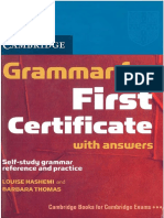 Hashemi Louise Thomas Barbara Grammar for First Certificate