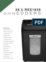 Rexel Shredder Manual