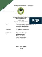 Crisis Nacional - Reestructuracion Del Ministerio Publico