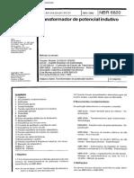NBR 06820 - Transformador de Potencial Indutivo