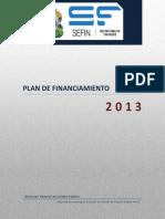 Plan de Financiamiento 20131