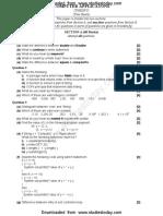 ICSE Class 10 Computer Applications Sample Paper (1)