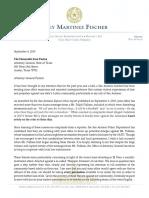 Chairman Martinez Fischer | Letter to AG Paxton