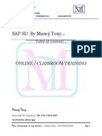 SAP SD by Manoj Tony Latest-1-1