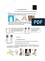 Foot and Ankle Exam