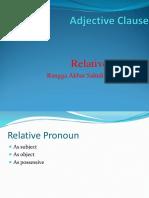 Adjective Clause Relative Pronoun