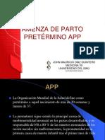 AMENZA DE PARTO PRETÉRMINO APP.pptx