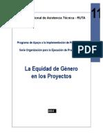 2004 Moreno La Equidad de Genero en Los Proyectos