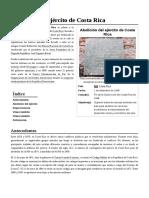 Abolición Del Ejército de Costa Rica