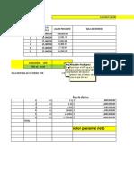 Calculo VPN en Excel