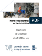 Engelhardt 39th Cement Concrete Science Conference Bath - Properties of Magnesiabinder Systems